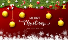 Free Happy New Year 2020 And Merry Christmas Greeting Card. Stock Image - 164465221