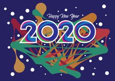 Free Happy New Year 2020 Card Composition Royalty Free Stock Photo - 164222845