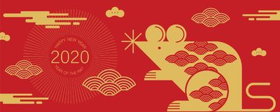 Free Happy New Year, 2020, Chinese New Year Greetings, Year Of The Rat , Fortune Royalty Free Stock Image - 138973466