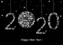 Happy New Year 2020 Greeting Card. Stock Photos