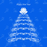 Happy New Year. Beautiful abstract background of Happy New Year greeting card royalty free illustration