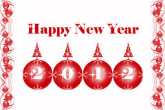 Happy New Year. Beautiful greeting card of happy new year 2012 stock illustration