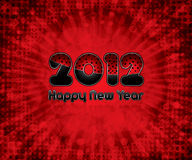 Happy New Year. Red abstract Happy New Year 2012 background Stock Photo