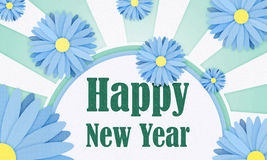 Happy New Year. Floral image Stock Photo
