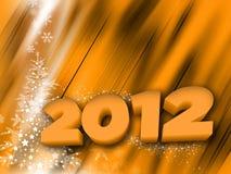 Happy new year. 2012 - shiny background Royalty Free Stock Photo