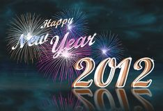 Happy new year 2012. Background to welcome a happy new year 2012 Royalty Free Stock Photo