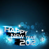 Happy new year. Vector 2012 happy new year background design Stock Image