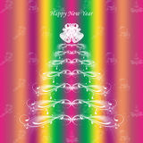 Happy New Year. Colorful background of Happy New Year greeting card vector illustration