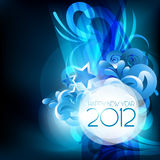 Happy new year. Stylish blue theme happy new year vector background royalty free illustration