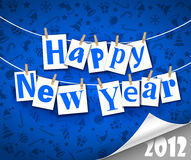 Happy New Year. Congratulatory text Happy New Year Stock Photos
