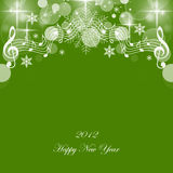 Happy New Year. Beautiful greeting card of happy new year 2012 Royalty Free Stock Photo
