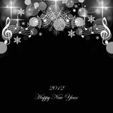 Happy New Year. Beautiful greeting card of happy new year 2012 Stock Photos