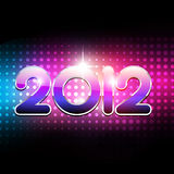 Happy new year. Vector new year 2012 beautiful design Stock Photo
