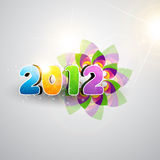 Happy new year. Vector funky colorful 2012 happy new year vector design vector illustration