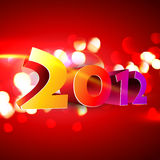 Happy new year. Beautiful 2012 happy new year vector background Royalty Free Stock Images