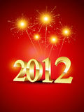 Happy new year. 2012 with fireworks Stock Images