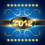 Happy new year. Vector happy new year golden style background stock illustration