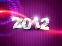 Happy new year. Beautiful happy new year on purple background vector illustration