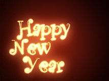 Happy new year. Greeting inscription (background Stock Photos