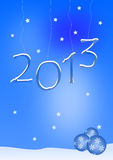 Happy New Year. 2013 in front of blue sky stock illustration