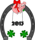 Happy New Year. 2013 - little piggy Stock Photo