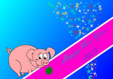Happy New Year. 2013 - little piggy - jepg Stock Images