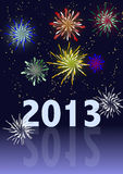Happy New Year. Fireworks - 2013 Royalty Free Stock Images