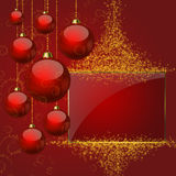 Happy New Year. Red background Royalty Free Stock Photos