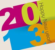 Happy new year. Over beige background,2013. vector illustration Royalty Free Stock Images