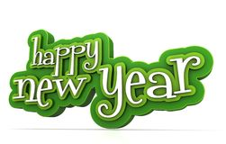Happy new year. On white background Royalty Free Stock Photography