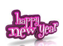Happy new year. On white background Royalty Free Stock Images