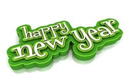 Happy new year. On white background Stock Photo