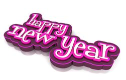 Happy new year. On white background Royalty Free Stock Photos