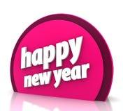 Happy new year. On white background Stock Photos