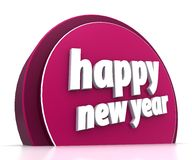 Happy new year. On white background Royalty Free Stock Photo