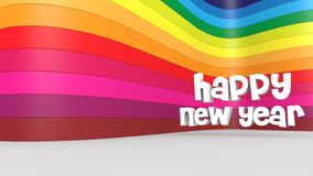 Happy new year. And a colorful backdrop Royalty Free Stock Photos