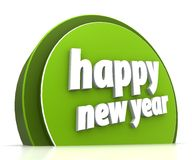 Happy new year. On white background Stock Image