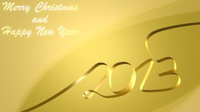Happy New Year. Colorful design of year 2013 suitable as a wallpaper Royalty Free Illustration