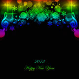 Happy New Year. Beautiful greeting card of happy new year 2012 Stock Images