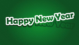 Happy New Year. Realistic cut, takes the background color. Vector illustration: Happy New Year Stock Photos