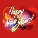 Happy New Year. Vector Happy New Year on red background Stock Photography
