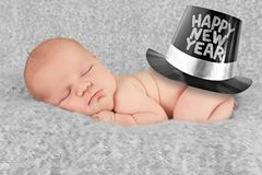 Happy new year. Baby boy Royalty Free Stock Image