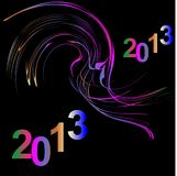 Happy new year. Colorful lights on a black background Stock Illustration