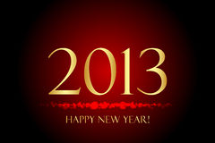 Happy New Year. Red and gold Happy New Year background Stock Images