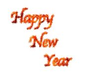 Happy new year. Illustration with phrase Happy new year in flame royalty free illustration