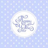 Happy new year. Illustration retro handwritten font Royalty Free Stock Images