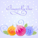 Happy new year. Illustration of new year Christmas balls for your design Stock Image