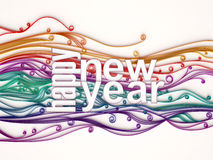 Happy New Year. 3D Colorful Happy New Year Illustration Royalty Free Stock Images