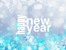 Happy New Year. Shiny Blue Happy New Year Illustration Stock Image