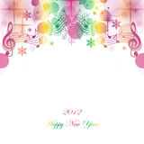 Happy New Year. Beautiful greeting card of happy new year 2012 Royalty Free Stock Photos